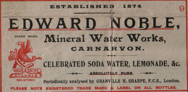 Edward Noble, Mineral Water Manufacturer