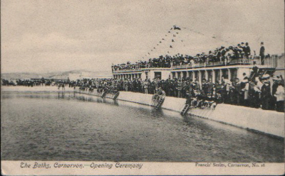 Public Swimming Baths, Aber foreshore. Opening Ceremony, 18th. May 1905. © K. Morris