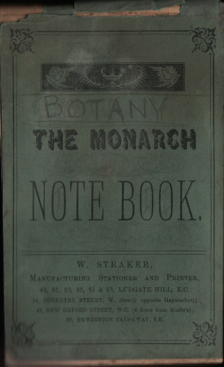 Genedl reporter T. Jones's Botany notebook