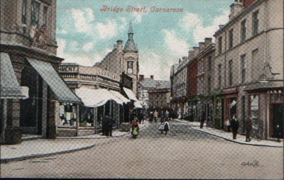 Bridge Street, from Castle Square c. 1910. © K. Morris