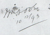 The signature on the document. Is the middle initial a 'J' or a fancy 'H'?