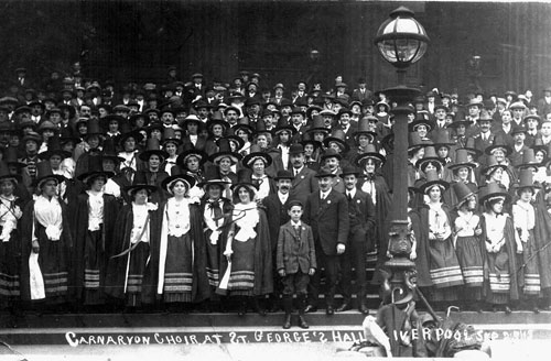 The Caernarfon Choir at Liverpool in 1913.