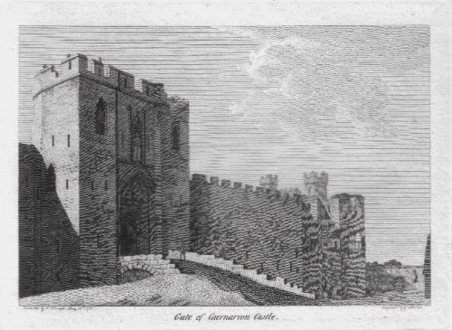 Carnarvon Castle, Main Entrance, 1773. © K. Morris