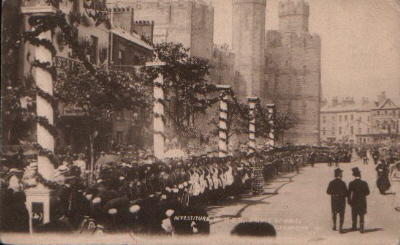 Castle Square, Investiture of the Prince of Wales, July 1911. © K. Morris