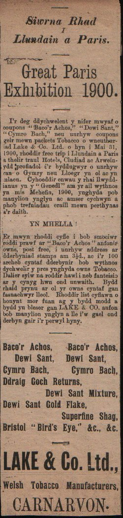 Y Genedl, August 22nd. 1899