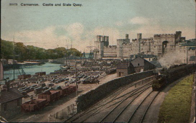Slate Quay & the Railway. © K. Morris